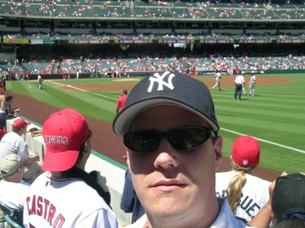 MD at Angels stadium rooting for Yankees